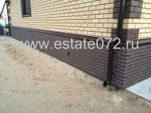 Монтаж фасадных панелей Docke-R Berg коричневый,водосточной системы Docke Lux